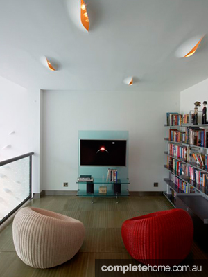 NY townhouse tv room