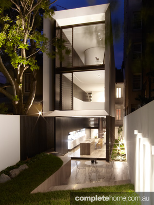 Tusculum Residence Exterior-Rear-Night