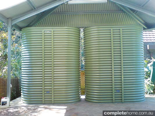 Coast & Country Tanks 3000-litre in Colorbond Pale Eucalypt