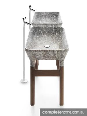 bathroom wellness granite look sink