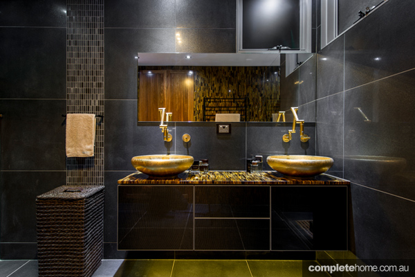 Best of black bathrooms completehome for Dark bathrooms design