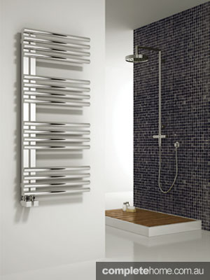 Adora towel rail bathroom heating solution from H2O Heating