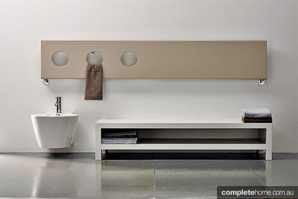 Treo towel rail bathroom heating solution from H2O Heating