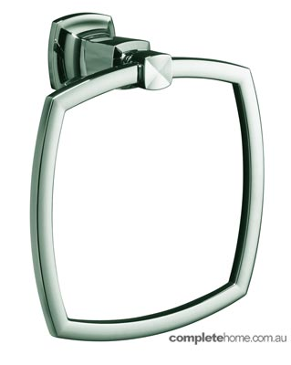 Masculine bathroom towel ring