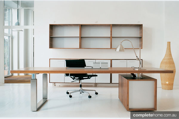 10 dream home offices completehome Modern home office furniture brisbane