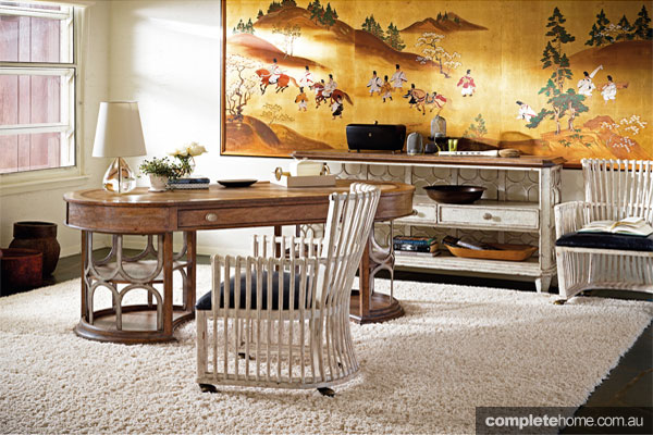 Archipelago collection home office design from Stanley Furniture