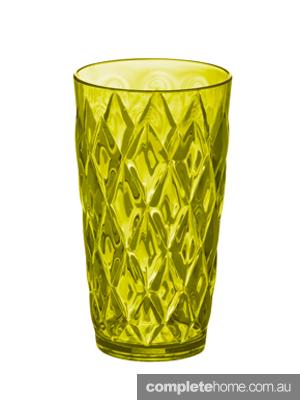 midcentury modern crystal tumbler glass