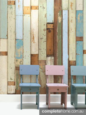 Scrapwood wallpaper by Piet Hein EEK.