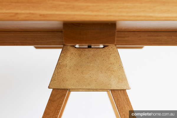 The A-joint, for benches, tables, stools and more, from designer Henry Wilson