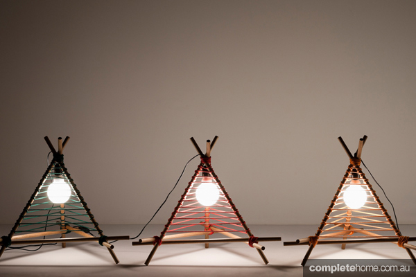 5. The Trey lamps, from designer Christel Hadiwibawa