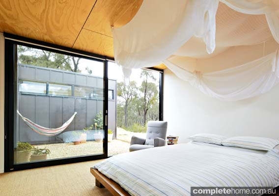 Grand Designs Kooroork Camping bedroom