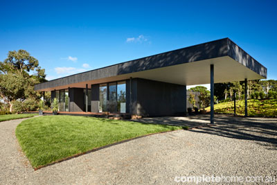 The Kyneton Flat Pack house, designed by Intermode