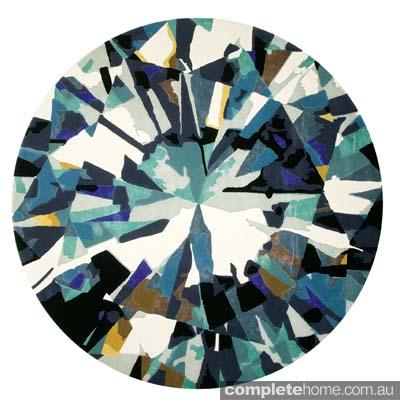 Snow queen style: Diamond rug