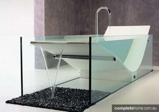 see-through bath