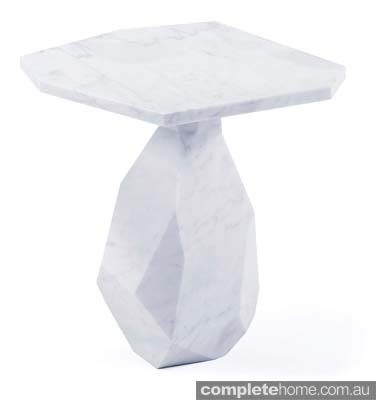 Snow queen style: Marble rock side table