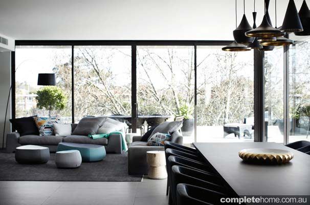 Toorak house - Modern, open living room