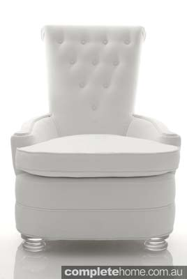 Snow queen style: White armchair