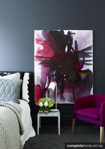 Bright, bold, colourful bedroom