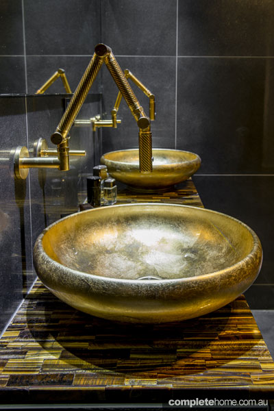 Gold leaf basins