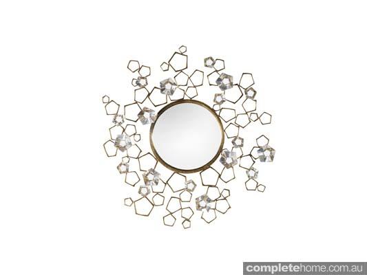 Snow queen style: Brass mirror
