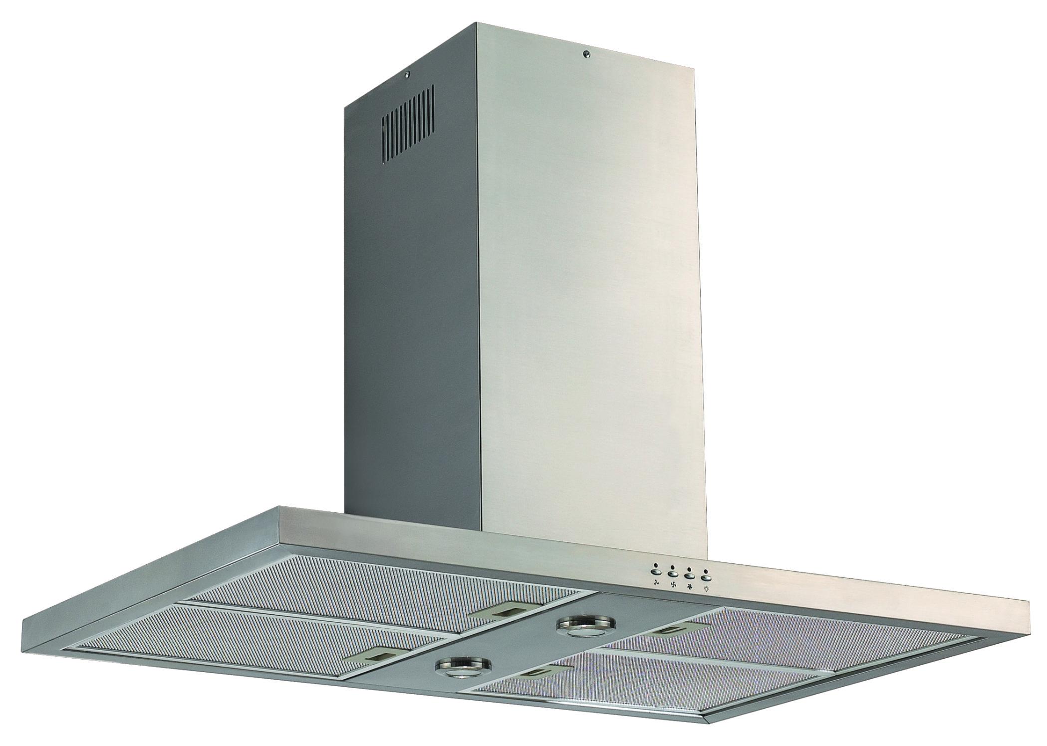 90cm Stainless Steel Canopy Island Rangehood Kitchen Euro Appliances