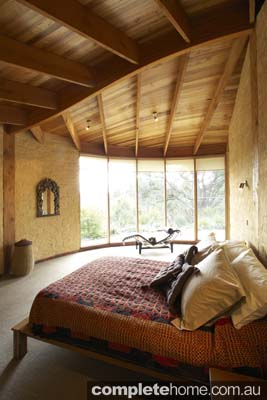 Mud bricks bedroom