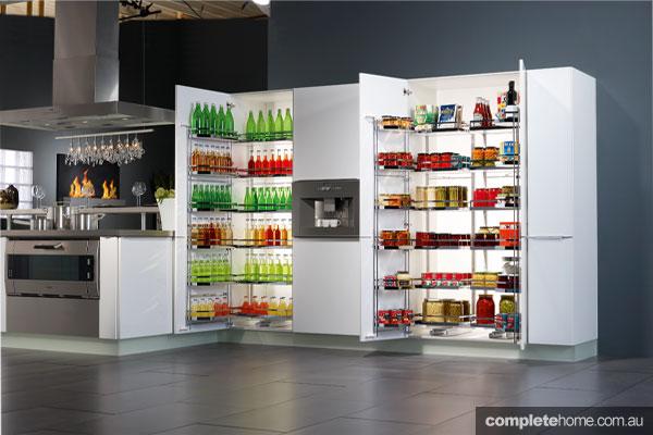 TANDEM kitchen cabinets from Häfele a smart storage solution ...