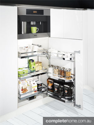 The Kesseböhmer TANDEM Depot coffee cabinet by Häfele