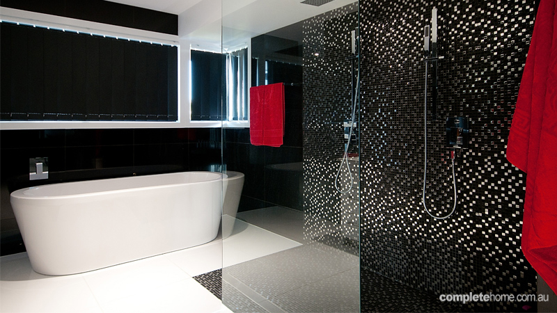 Kitchen and Bathroom Trends Renovation Luxury black bathroom
