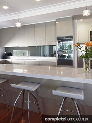 An integrated and sleek kitchen design from Carrera Kitchens