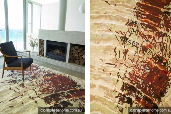 A landscape inspired rug from Designer Rugs by Caroline Baum