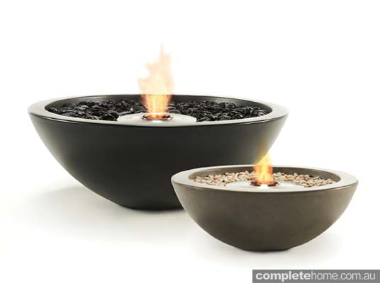 Outdoor heating fire bowels from ecosmart for Outdoor fire bowl