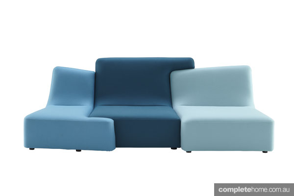 Statement sofas: Confluences blue sofa