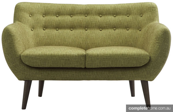 Statement sofas: Bergman retro green sofa