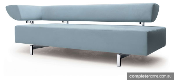 Statement sofas: Arthe modern blue/grey sofa